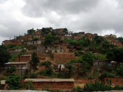 Matadi houses on a hillside