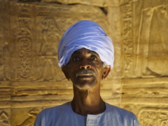 "Portrait of a caretaker at Edfu's ""Temple of Horus"" (thanks to Marie for this pic)"