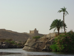 Picturesque view of the Nile River, as seen from Aswan