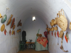 A traditional room inside a typical Nubian house (the rounded roof is designed to keep the house cool)