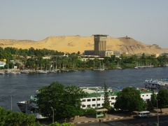View of the Nile River (as seen from the rooftop of our Aswan Hotel, Orchida St George Hotel)