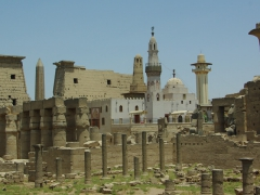 The Luxor Temple has been modified and expanded over the years, with the most glaring example a 13th Century mosque built by Arabs inside the central courtyard