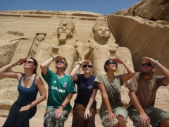 Hmmm, now where on earth can Abu Simbel temple be?