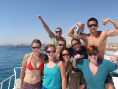 Group shot as we cruise the Red Sea