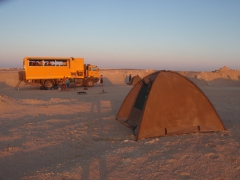 Our very last bush camp site of the trip (where Lars and Marie had to battle desert foxes for their flip flops); Hurgada