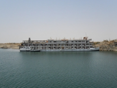 One of the more luxurious cruise ships ferrying passengers up and down the Nile River