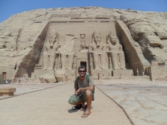 Robby poses in front of Abu Simbel Temple