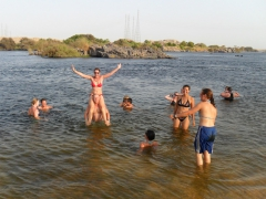 Frolicking in the Nile River near Aswan