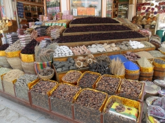 Dates and chrysanthemum tea for sale; Aswan Souq