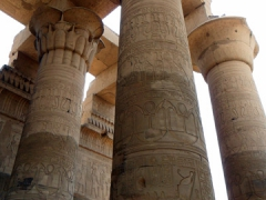 Gargantuan columns dominate the Temple of Kom Ombo
