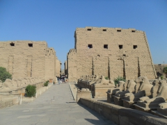 This sphinx lined walkway once led from the Nile River to the Temple of Karnak