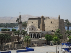 View of Luxor Temple (which has been added to by various Egyptian Pharaohs, Alexander the Great, Romans and Arab conquerors)