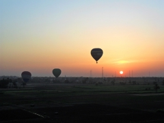 Its an early morning (4 am) to be in a hot air balloon as the sun rises over Luxor