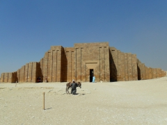 The main entrance to Saqqara, a large necropolis located about 30 KM south of Cairo full of temples, pyramids and tombs