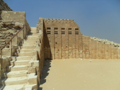 Steps leading up to the Saqqara Temple complex