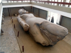 View of the giant statue of Ramses II; Memphis