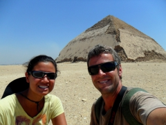 Posing in front of the Bent Pyramid; Dahshur