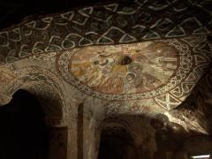 Dome fresco of the twelve apostles inside Abuna Yemata Guh