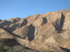 Unique geological formations on our drive to Hamed Ela