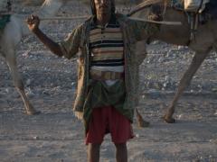 An Afar salt trader strikes a pose