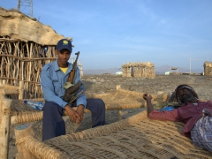 Our mandatory security guards (ever since 5 Europeans were killed in Jan 2012, a security force has been mandatory for all visitors to the Danakil region)