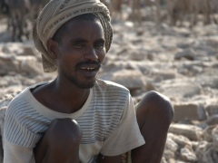 Portrait of an Afar salt worker (notice his v-shaped teeth? The Afar tribe shape their teeth that way as a sign of beauty)