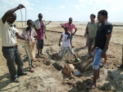 A minor crisis is averted as we assist in rescuing a juvenile camel from a makeshift well