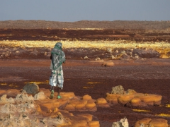 Ngassi walking across the Dallol terrain