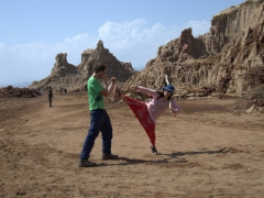 The perfect backdrop for a kung fu movie!