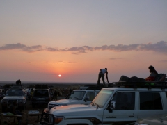 Sunset over our campsite at Hamed Ela