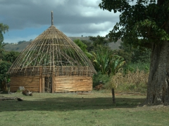 Foundation of a round hut (commonly seen throughout Ethiopia)