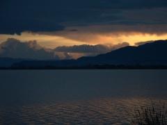 Sunset over crocodile infested Lake Chamo