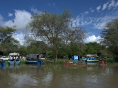 """Arba Minch (""""Forty Springs"""") is a popular base to see Lake Chamo which is crocodile infested. This is a view of our boat dock where we launched a day trip from"""