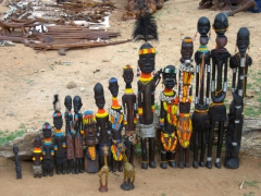 Tribal statues for sale (we thought the mursi statues were interesting)