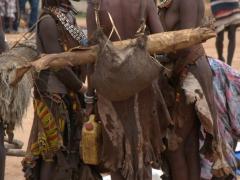 Hamer women deep in conversation at the Turmi Market