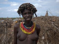 A Dhasanech girl. We learned that all Dhasanech girls are circumcised by age 16 in a coming of age ceremony