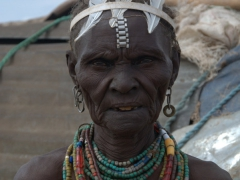 A Dhasanech village elder. She loved having her portrait taken and later made the effort to shake our hands and thank us for singling her out