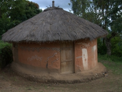 Traditional hut at the South Omo Research Center and Museum; Jinka