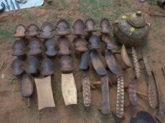 Stools for sale at  Key Afar's popular Thursday Market