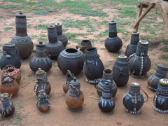 Gourd souvenirs on display at Key Afar market