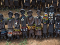 Tribal figurines in the souvenir section of Key Afar market