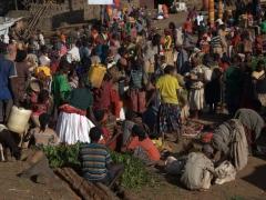 The Konso market is in full swing on Thursdays
