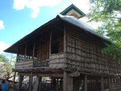 A traditional wooden hut in the center of the Konso Market