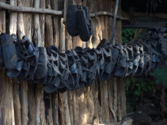 Tire sandals for sale; Konso Market
