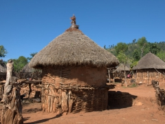 Konso huts in the village of Gesergiyo