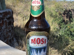 "Mosi Beer ""As Mighty as the Mosi-Oa-Tunya"" is a favorite Zambian beer"