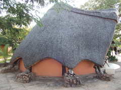 View of a traditionally thatched roof