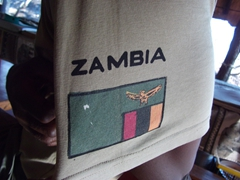 Close up of a Zambia flag