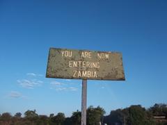Zambia signpost