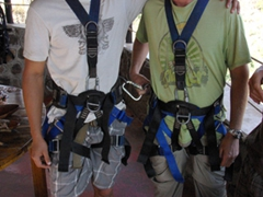 Luke and Robby are all geared up nice and tight!